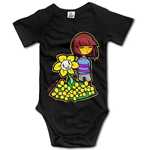 CEDAEI Undertale THE HUMAN LITTLE BUDDY Boys & Girls Short-Sleeve Romper Bodysuit Size 18 Months Black