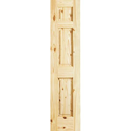 Amazoncom 3 Panel Colonial Double Hip Knotty Clear Pine Interior