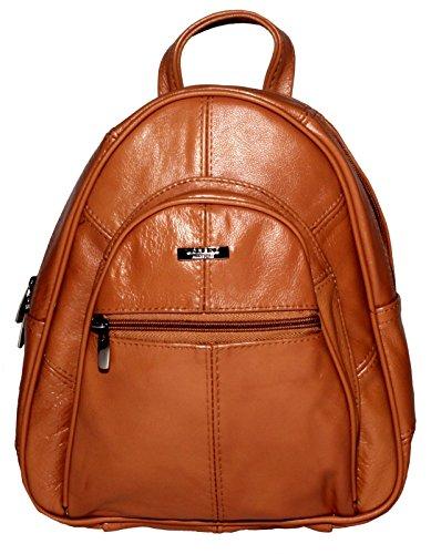 Lorenz - Bolso mochila  para mujer Marrone Chiaro