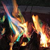 TOPS MALIBU INC. Magic Yule Logs - Rainbow-Colored Flame Display - Set of 3