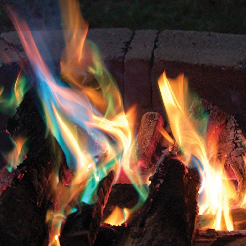 Great Features Of Magic Yule Logs - Rainbow-Colored Flame Display - Set of 3
