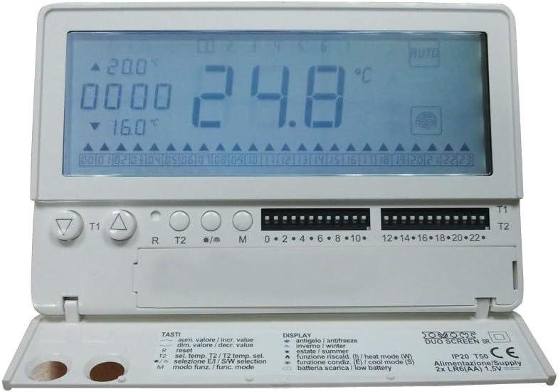 Cronotermostato electrónico semanal retroiluminado