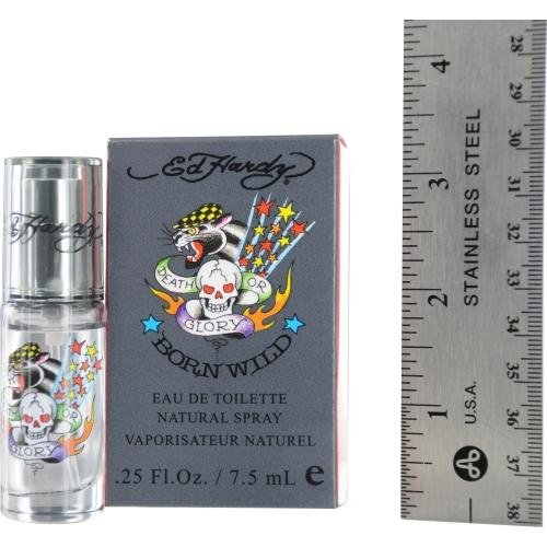 - Ed Hardy Born Wild Eau De Toilette Spray Mini Men by Christian Audigier, 0.25 Ounce