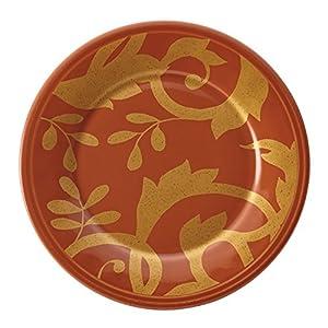 Rachael Ray Dinnerware Gold Scroll 4-Piece Round Appetizer Plate Set