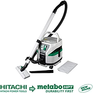 Metabo HPT RP3608DAQ4 MultiVolt Brushless Wet/Dry Pod Style Vacuum (Tool Body Only), Optional 36V MultiVolt Batttery or AC Adapter Sold Separately, 2.1 Gallon Capacity Dry, 1.6 Gallon Capacity Wet