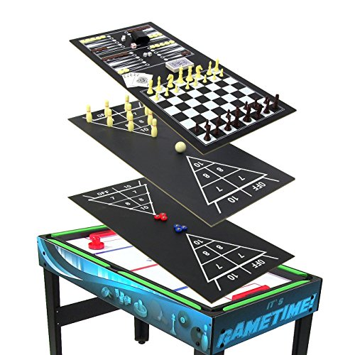 Sunnydaze 40 inch 10 in 1 multi game table sporting goods for 10 in 1 table game
