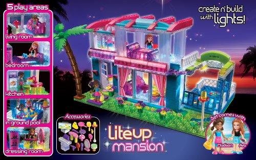 Amazon.com: Cra-Z-Art Lite Brix Lite Up Mansion Building Kit: Toys ...