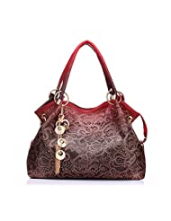 Realer Ladies Leather Hobo Handbags Tote Bags Purses with Zipper for Women