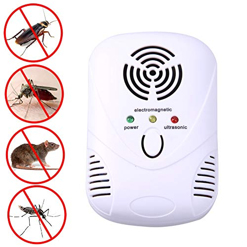 - Twinlight - 110-250V/6W Electronic Ultrasonic Mouse Killer Mouse Cockroach Trap Mosquito Repeller Insect Rats Spiders Control US/EU Plug