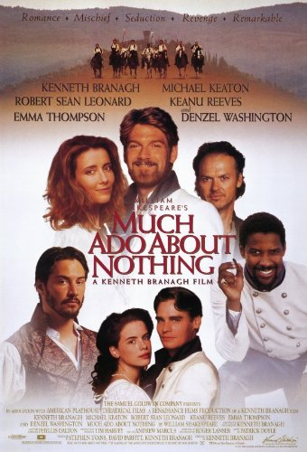 (Much Ado About Nothing Poster Movie 11x17 Kenneth Branagh Emma Thompson Keanu Reeves Kate Beckinsale )
