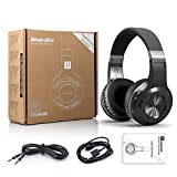 Bluedio Hurricane Turbine H Black Headphone Bluetooth 4.1 Wireless Studio Earbud Noise-cancelling Stereo Headset Over-ear Earphone with MIC for Cell Phone Computer PC