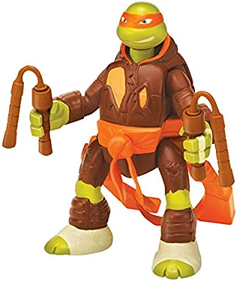Tortugas Ninja - Figura Battle and Throw Mike, 15 cm (Giochi Preziosi 91620)