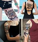 DaLin Large Temporary Tattoos, 4 Sheets (Blue Tiger)