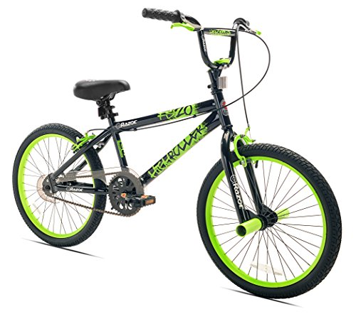 Razor High Roller BMX/Freestyle Bike, 20-Inch, Black/Green (Front Spoked Rims)