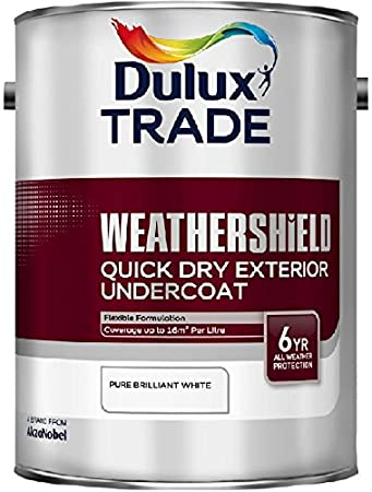 Beautiful Dulux Trade Weathershield Quick Drying Exterior Undercoat Pure Brilliant  White 1 Litre: Amazon.co.uk: DIY U0026 Tools