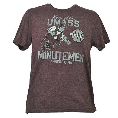 - NCAA Massachusetts Minutemen UMASS Mens Burgundy Tshirt Tee Amherst Basketball M