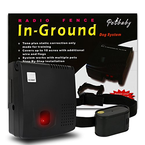 FunAce Underground Pet Containment System with Extra Thick 0.5mm Wire (1 Dog System)  - Ground Dog Deluxe Fence