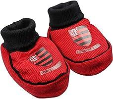 35b93d65abf2d8 Kit Infantil Torcida Baby Flamengo Menina Curto Body + Faixa + Pantufa