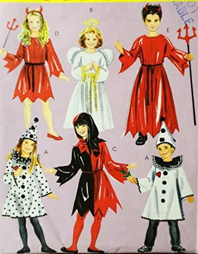 OOP McCall's Costume Pattern M5729. Children's.kids/boys/girls Szs 3/4;5/6 Court Jester; Clown; Devil; Angel