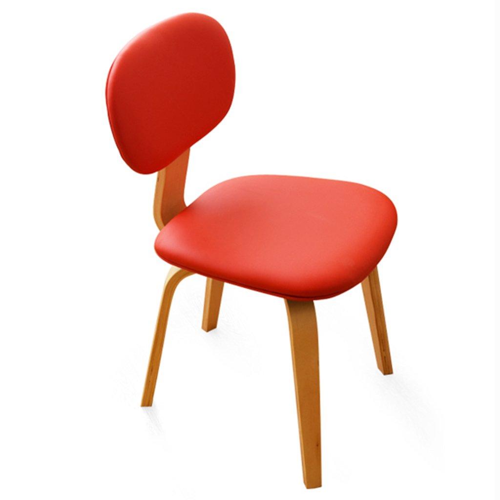 ERRUダイニングチェア 北欧ファッションソリッドウッドダイニングチェア/家庭用オフィススタディコーヒーテーブルチェア(45 * 46 * 82CM、カラーオプション) ( 色 : 赤 , サイズ さいず : 1 Piece ) B078LQLMG4 1 Piece|赤 赤 1 Piece