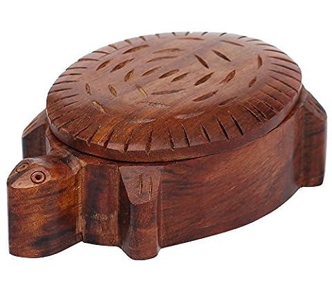 """SouvNear Turtle Box on Sale - 4.4"""" Lazy Turtle Keepsake Box - Cute Wooden Treasure Jewelry / Tortoise Trinket Box – Gifts for Women Girls - Turtle Lacquer"""