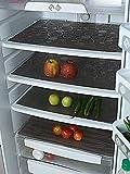 Kuber Industries Circle Design 6 Piece PVC Refrigerator Drawer Mat Set - 19'x13', Brown