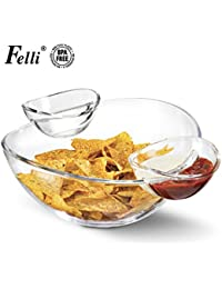 Buy (Multi-function Servingware) Felli- Crystal clear acrylic serving bowl set. 12.5