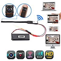 WiFi Mini Camera Cop Cam - 1080P HD Wireless Surveillance - Wi-Fi Connectivity - Indoor Homes & Offices & Outdoor Activities - Motion Detection – Loop Recording - No Night Vision WiFi Nanny Cam
