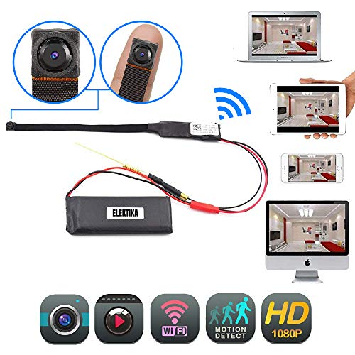 Mini Hidden WiFi Flex Wireless Camera 1080p HD Portable Security Indoor Outdoor IP Surveillance Camaras Motion Detection Loop Recording High Definition Nanny Cameras Home Business Night Vision Camera