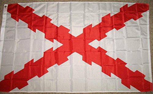 Spain Burgundy Cross Flag 3'x5' Spanish -