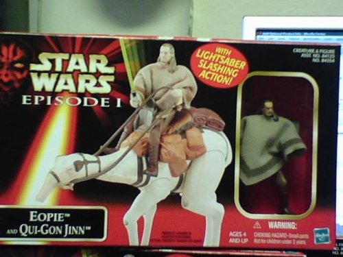 Star Wars Episode I Eopie and Qui-Gon Jinn with Lightsaber Slashing -