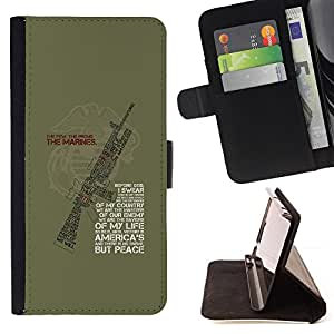 Jordan Colourful Shop - Gun War Solider Machine Quote Green For Apple Iphone 4 / 4S - Leather Case Absorci???¡¯???€????€???????&bdquo