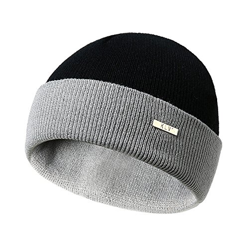 Price comparison product image Knit Caps for Men & Women Hot Sale DEATU Personality Double-sided Color Matching Mix And Match Wool Knit Hat(D)