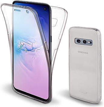 Moozy Funda 360 Grados para Samsung S10e, Galaxy S10e Transparente ...