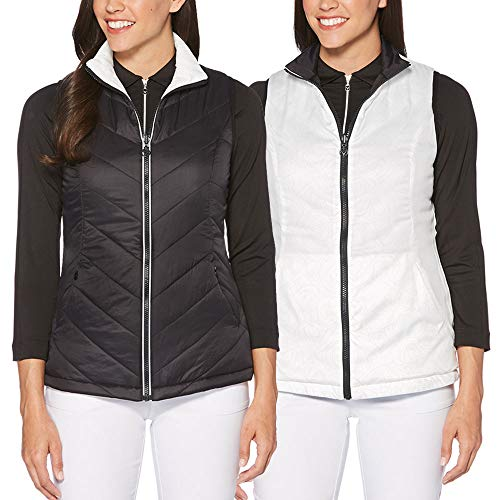 Callaway Women's Thermal Quilted Reversible Golf Vest, Caviar, ()