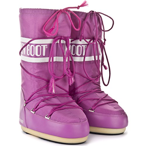 Moon Boot Womens Tecnica Classic Winter Nylon Snow Waterproof Ski Boot Bright Pink