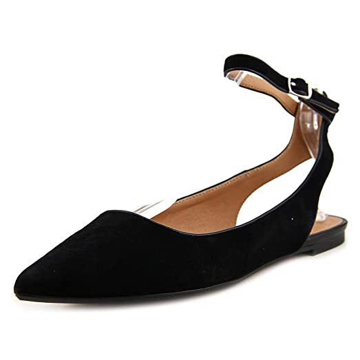 Audrey Brooke Naomi Women US 7.5 Black Flats