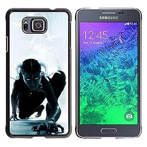 For Samsung GALAXY ALPHA G850 Case , Woman Witch Halloween Monster - Diseño Patrón Teléfono Caso Cubierta Case Bumper Duro Protección Case Cover Funda