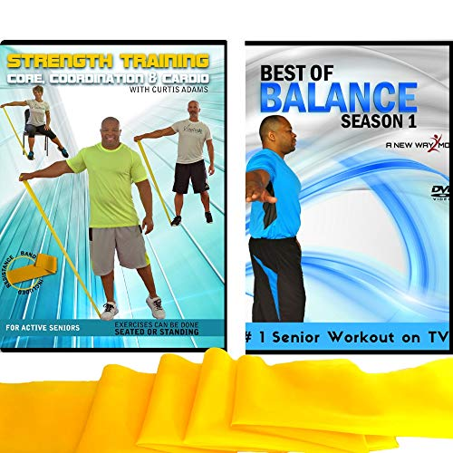 Balance + Strength Exercises for Seniors: Improve Your Balance and Increase Your Strength with This Senior Fitness Combo Includes Resistance Band. Get Stronger, Core & Abs, Aerobics, Coordination (Best Balance Exercises For Seniors)
