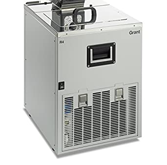 Grant Instruments R4L Stainless Steel Low Temperature Refrigerated Circulating Bath with Drain Relay, 390 mm Width x 530 mm Height x 490 mm Depth, 20 L Capacity, 120V, -20 to +100 Degree C