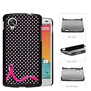 Breast Cancer Pink Ribbon Polka Dots Hard Plastic Snap On Cell Phone Case LG Nexus 5