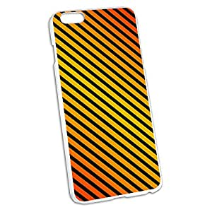 Urban Stripes Orange Black Snap On Hard Protective Case for Apple iPhone 6 6s Plus