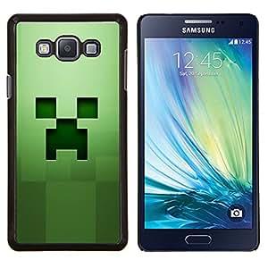 Qstar Arte & diseño plástico duro Fundas Cover Cubre Hard Case Cover para Samsung Galaxy A7 A7000 (Fluencia Verde)