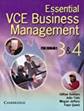 Essential VCE Business Management, Gillian Somers and Julie Cain, 0521543029
