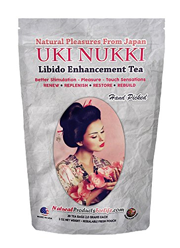 Cheap Menopause Women's Libido Enhancer Tea – 30-day value pack, 60 days of benefits. Herbal Green Tea with Smooth Citrus Lemon Flavor. Horny Goat Weed Infused & Extracts! Improves Desire