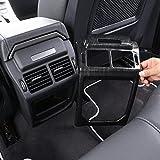 AUTO Pro for Land Rover Evoque 2012-2017 Rear Row Air Condition Vent Cover Frame Trim Stickers Car Interior Accessories Dark Ash Wood