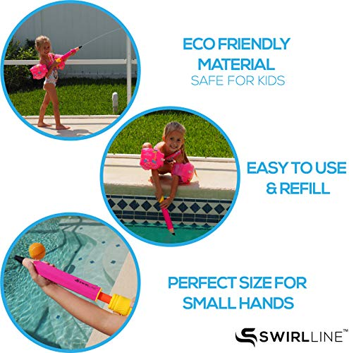 SWIRLLINE Water Blaster Toy 4 Pack – Water Soaker for Kids 13-19'' – Water Squirter for Summer Outdoor Party Pool Beach – Pencil Shape by SWIRLLINE (Image #2)