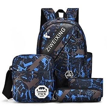 Mochila para niños con diseño de Oxford Cloth School Bag - Mochila unisex - Conjunto de 4 piezas, blanco: Amazon.es: Bricolaje y herramientas