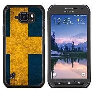 LECELL--Funda protectora / Cubierta / Piel For Samsung Galaxy S6Active Active G890A -- Bandera de Suecia --