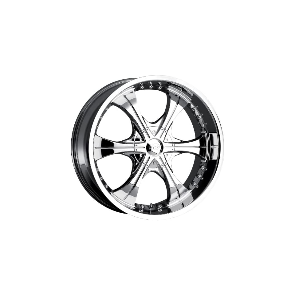 VCT Scarface 2 24 Chrome Wheel / Rim 6x135 & 6x5.5 with a 30mm Offset and a 87.1 Hub Bore. Partnumber V43 2491261351397+30